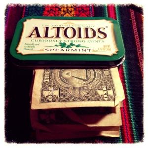 Altoids Hiding Place