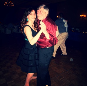 Then I got to dance with my dad