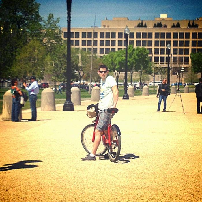 Thorsten on a Bike