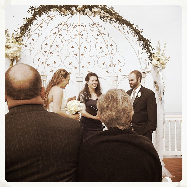 Abbie oversaw the ceremony; it was beautiful :-D
