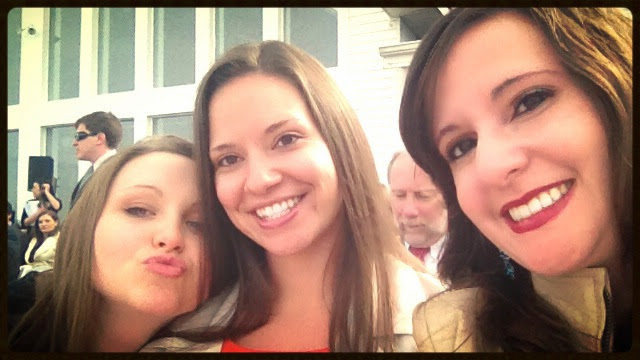 Kirsten, Krista, and Me waiting for the bride :-D
