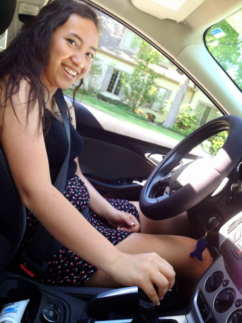 Oh and Lizzy (my twin) and I decided we would teach my 16-year-old God Daughter how to drive a manual.......to prepare her for driving in Germany :-D