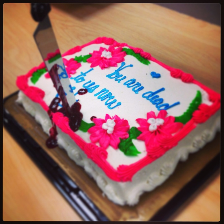 Best. Going Away Cake. Ever.  I will miss my coworkers....