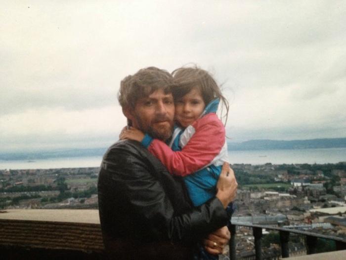With Dad Edinburgh Castle