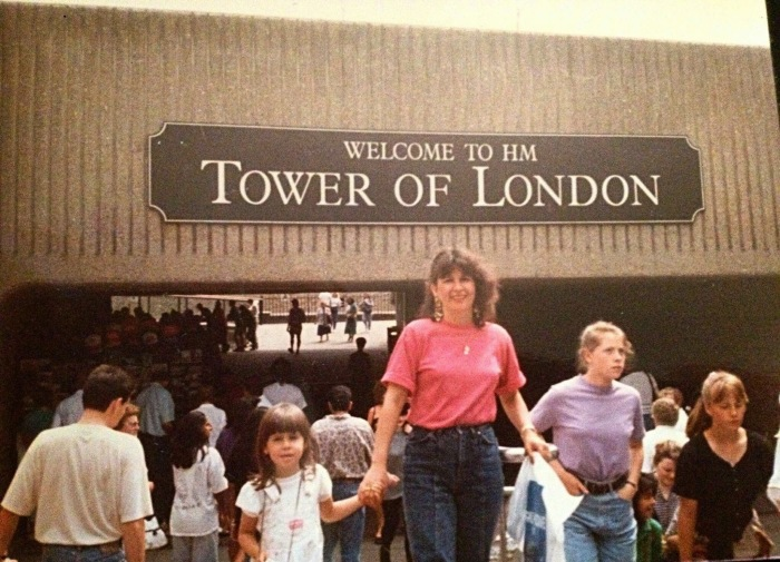 With Mom Tower of London