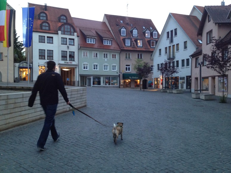 Here's Abner walking Thorsten :P