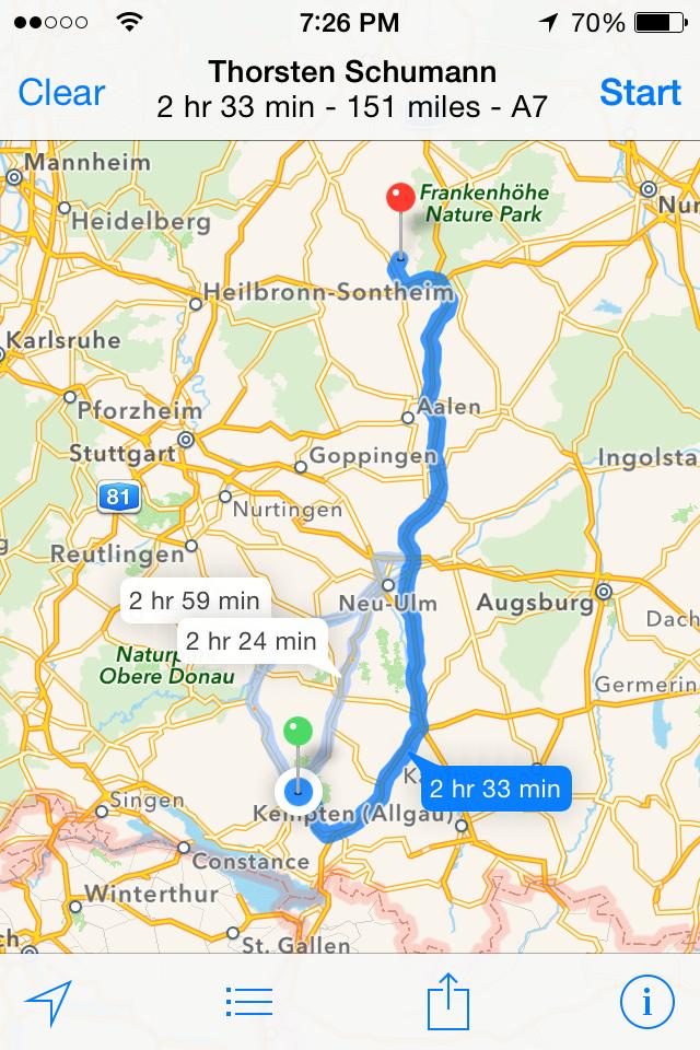 Route to Hilgartstausen