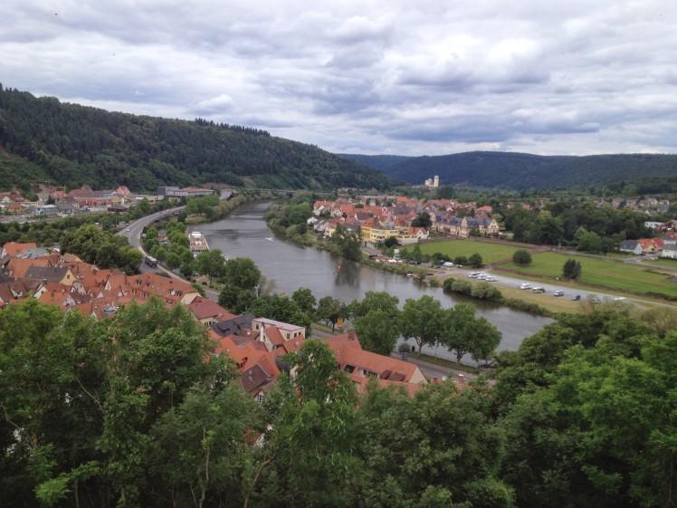 Village of Wertheim next to the river Main