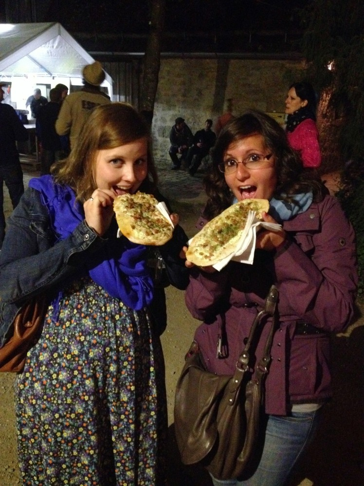 Nicola and I were determined to have our Flammkuchen!!!