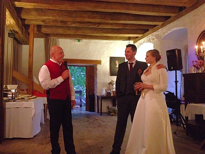 The father of the bride making a speech