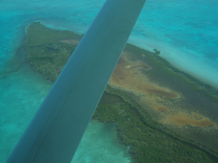Flying over San Pedro as we landed...