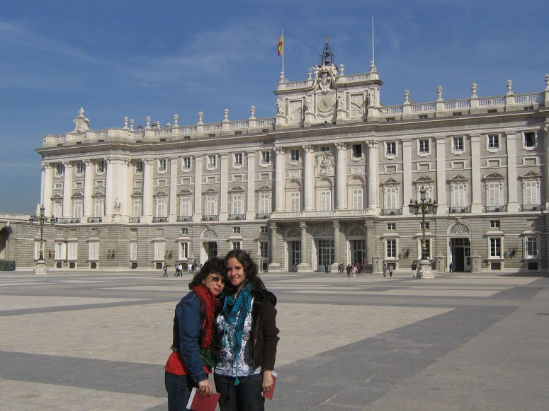 My mamita and I at the Royal Palace in Madrid