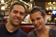 Doug (old friend from IU) with his gorgeous wife who he just married in October - Meesh