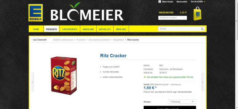 Edeka Ritz Crackers