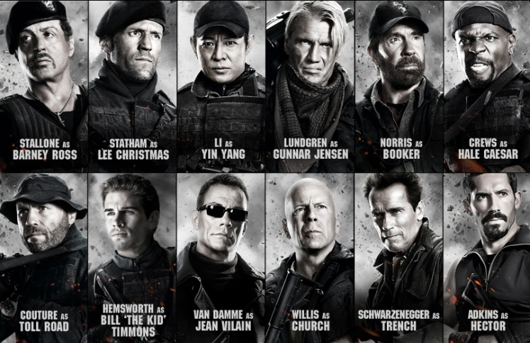 I know what you're thinking.....it made recording the German dub of the Expendables a logistical nightmare!