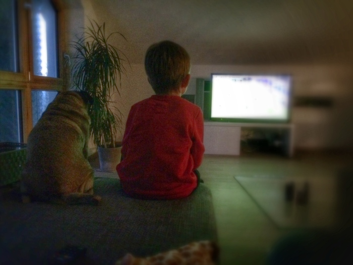 He enjoys watching TV
