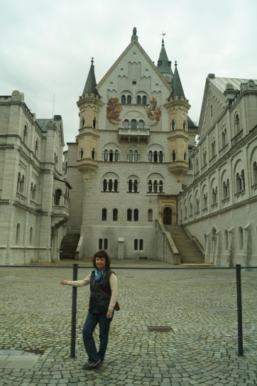 Mom at Neuschwanstein