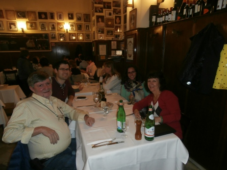 The family having dinner in Milan