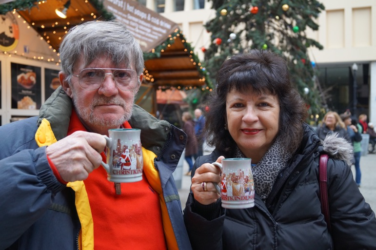 My Parents enjoying some Glühwein