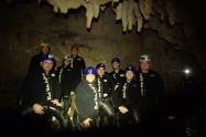 Our group inside the cave