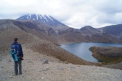 Mt. Ngauruhoe with Upper Tamal Lake